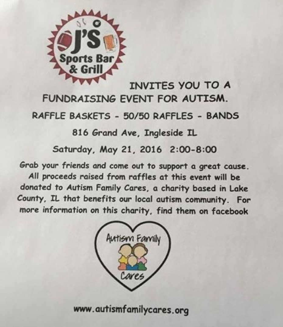 May 21 – Autism Awareness Fundraiser