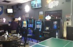 Gaming area at J's Sports Bar and Grill