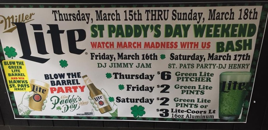 Fri & Sat – St. Paddy's Day Weekend Bash