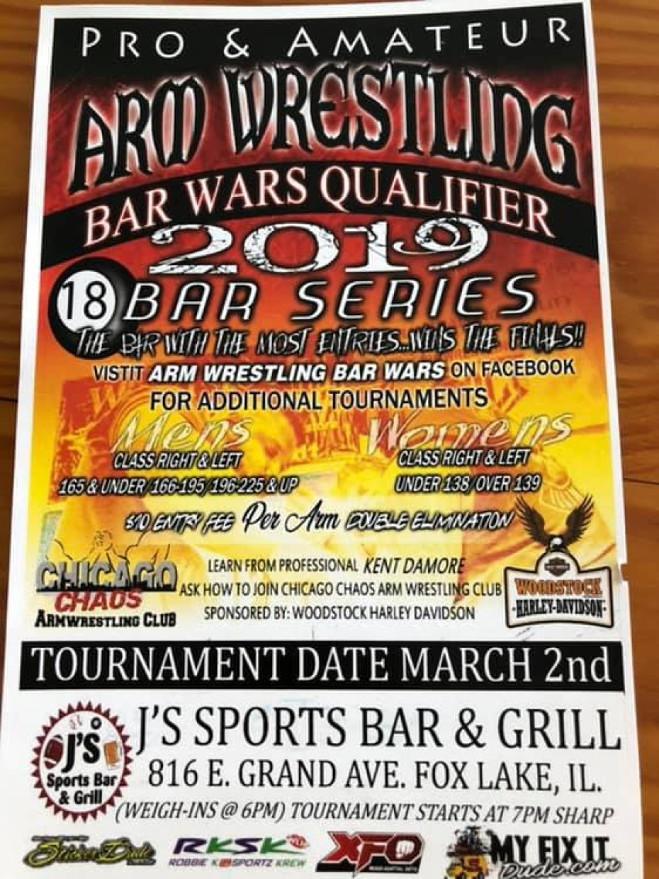 March 6 | Pro & Amateur Arm Wrestling – Bar Wars 2019