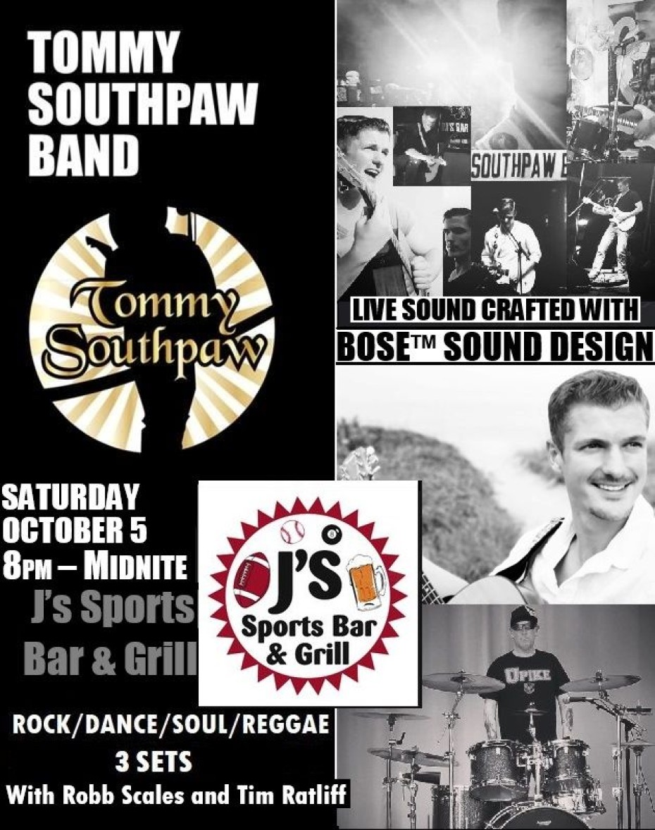 Tommy Southpaw Band | Oct. 5th
